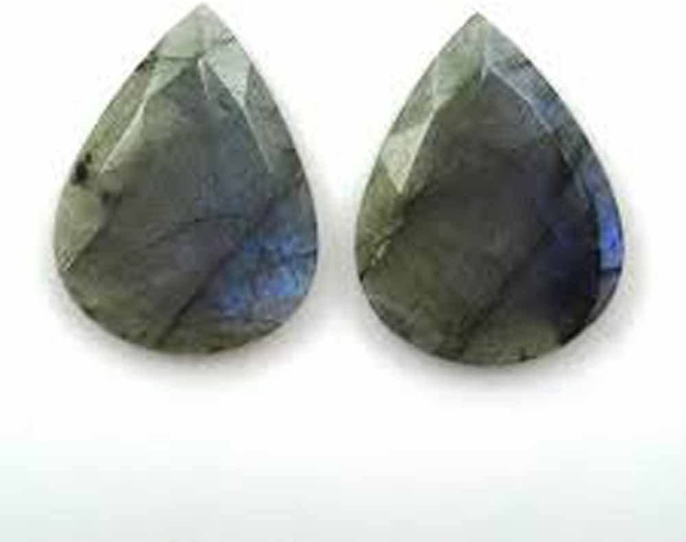 35X23X7 mm N-534 Superb A-One Quality 100/% Natural Labradorite Pear Shape Carved Loose Gemstone For Making Jewelry 45 Ct