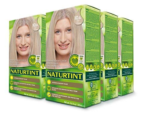 Naturtint Permanent Hair Color - 10A Light Ash Blonde, 5.6 fl oz (6-Pack)