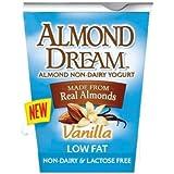 Almond Dream Non Dairy Low Fat Vanilla Yogurt, 6 Ounce -- 12 per case.
