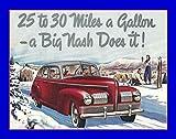 An 8 x 10 Photo Framed 1940 Ad For The Nash Car