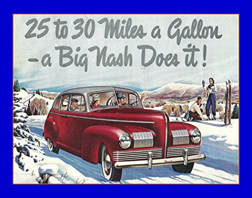 An 8 x 10 Photo Framed 1940 Ad For The Nash Car by Celebrity Framed Art