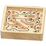 Travel wooden labyrinth traditional games