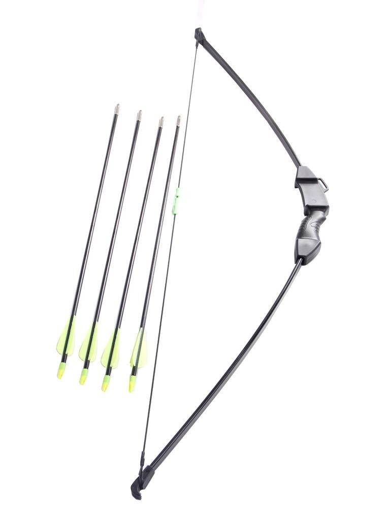 FlyArchery 45'' Archery Bow and Arrow Set Start Recurve Bow Outdoor Sports Game Hunting Toy Gift Bow Kit Set with 4 Arrows 15-20 Lb for Teens