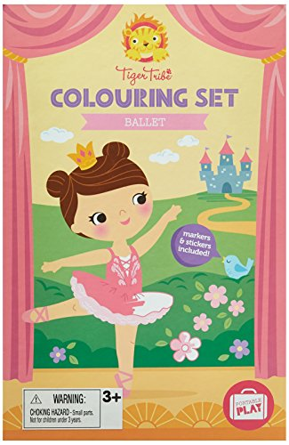 Tiger Tribe Colouring Set, Ballet Arts and Crafts - Art Colouring