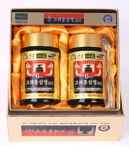 (HongSamJeong 240g(8.5oz) X 2ea, Korean 6years Root Red Ginseng Gold Extract, Saponin, Panax)