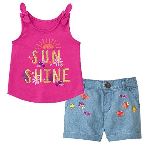 Gymboree Toddler Girls' 2-Piece Sunshine Tank & Summer Shorts Set (Gymboree Island)