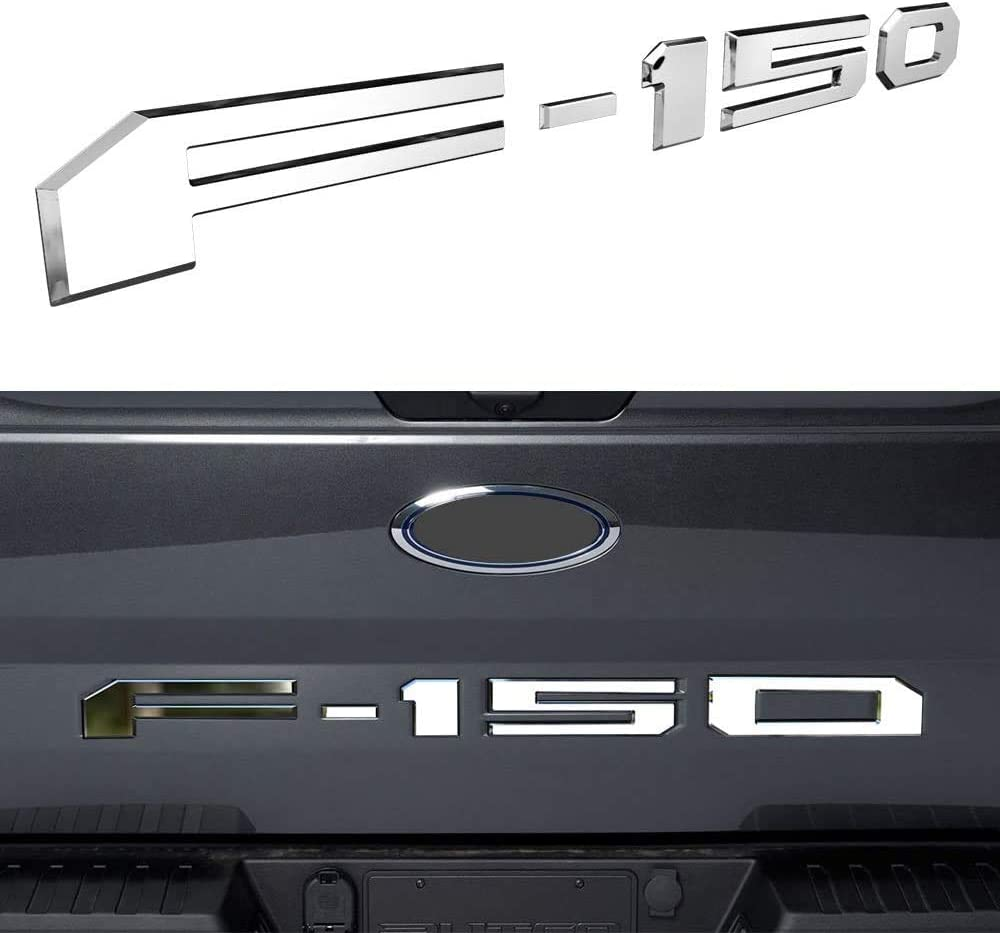 Tailgate Insert Letters for F150 2018 2019 2020-3D Raised Tailgate Decal Letters Silver