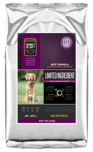 SportDogFood Elite Grain Free Dog Food, Limited Ingredients, 30-Pound