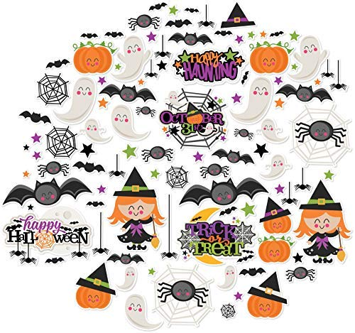 Paper Die Cuts - Happy Halloween - Halloween - Over 60 Cardstock Scrapbook Die Cuts - by Miss Kate -