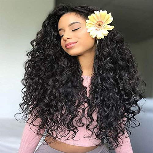 FASHION PLUS Full Lace Wig Human Hair Brazilian Deep Wave Human Hair Wigs With Baby Hair Natural Hairline Human Hair Full Lace Wigs 150% Density 10 inch