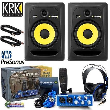 amazon com krk rp8g3 na rokit 8 generation 3 powered studio monitor