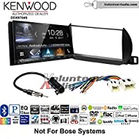 Volunteer Audio Kenwood DDX9704S Double Din Radio Install Kit with Apple Carplay Android Auto Fits 2002-2004 Nissan Altima (Without Bose)