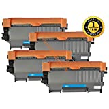 4 Pack SaveOnMany ® Brother TN450 TN-450 TN450BK Compatible Black BK Laser Toner Cartridge (High Yield Version of TN420) - 2600 Page Yield, 1 year warranty