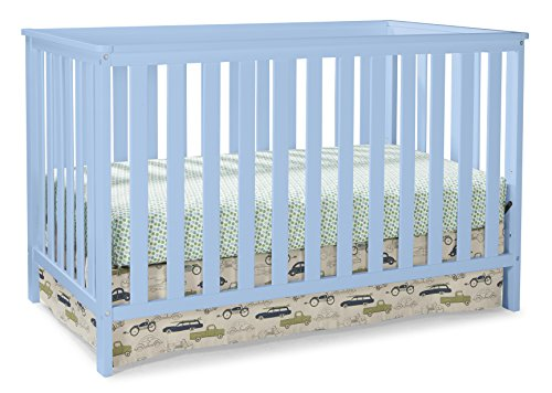 Sky Rocker Blue - Storkcraft Rosland 3 in 1 Convertible Crib, Sky Blue