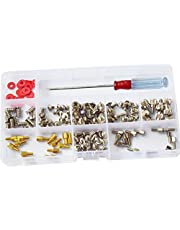 DANA FRED 180pcs Personal Computer Screws PC Standoff M3 M5 M6 Phillips Head Assortment Kit for Hard Drive Computer Case Motherboard fan power graphics (Extra: Phillips Screwdriver)