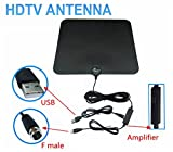 Indoor HDTV Amplified Digital Antenna 50 Miles Range Boost Cables Included