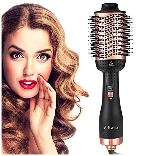 - 51GRNLsbJqL - Adkwse Hair Dryer Brush, One-Step Hair Dryer and Volumizer Blow Brush
