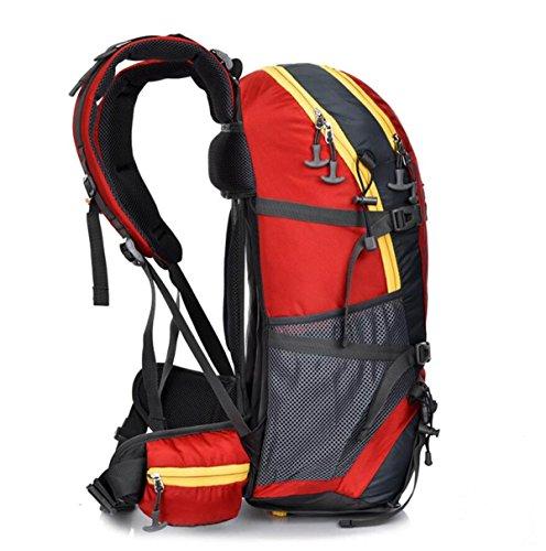 LQABW Al Aire Libre Del Alpinismo Que Va De Excursión De Los Hombres Y De Las Mujeres Del Paquete De Gran Capacidad De Excursión El Bolso 55L,DarkBlue Black