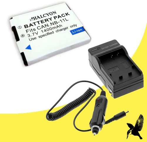 Halcyon 1400 mAH Lithium Ion Replacement Battery and Charger Kit for Canon Powershot Ixus 240 HS 16.1 MP Digital Camera and Canon NB-11L
