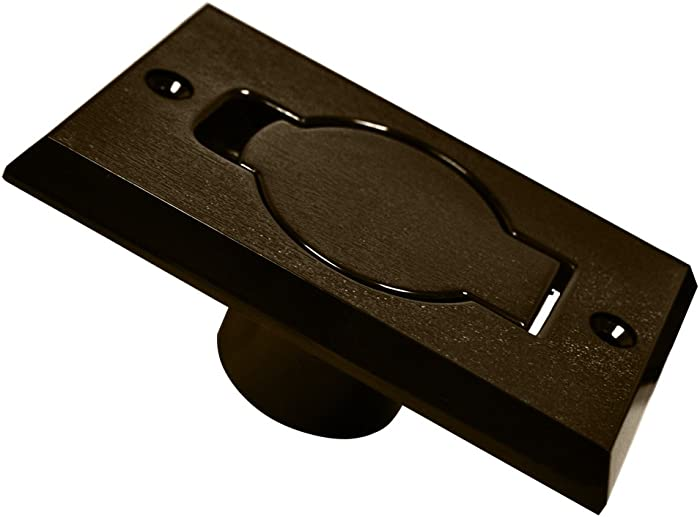 Central Vacuum Cleaner Auto Inlet Door Face Plate Brown Plastic Assembly