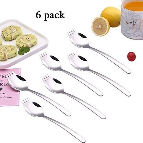 (Sporks Stainless Steel Spork flatware sets Salad Dessert forks 6-pack for Everyday Household Use or Camping)