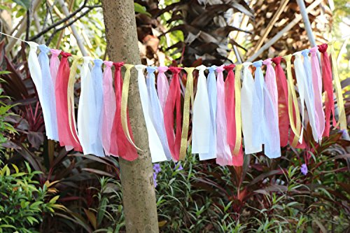 Lace Tassel Garland Rag Tie Garland Fabric Garland Shabby Chic Blush Banner For Vintage Wedding Decor Backdrop Baby Shower Nursery Decor Party Decor Home Decor Wall Hanging Bedroom Decor Boho Decor 4F