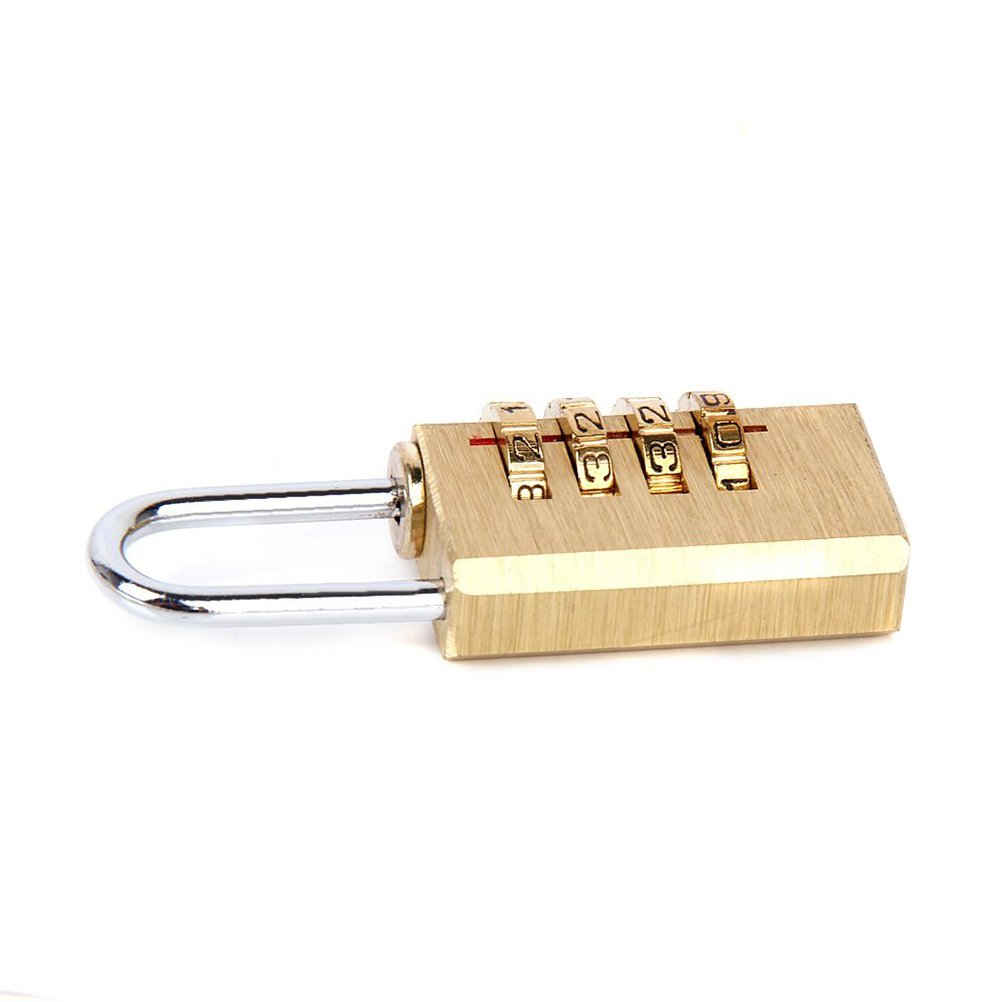 Tinksky 4-digit Combination Coded Lock Resettable Padlock for Suitcase Luggage Case Bag