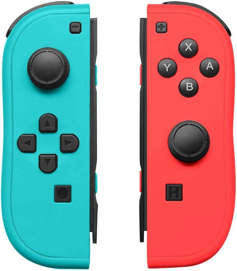 Joy-Con Controller Replacement for Nintendo Switch,Left and Right Controllers with Straps Support Wake-up Function (Blue and Red)
