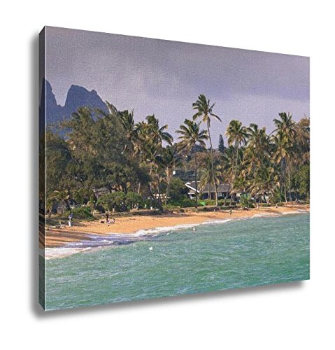 Ashley Canvas Coconut Palm Tree On The Sandy Beach In Kapaa Hawaii Kauai, Wall Art Home Decor, Ready to Hang, 16x20, AG6403624 by Ashley Canvas