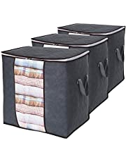 Lifewit Large Capacity Storage Bag with Reinforced Handle, Upgrade Fabric Duvet Storage Bags