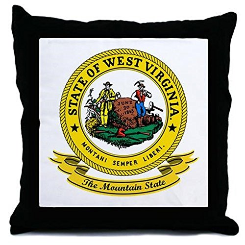 CafePress - West Virginia Seal Throw Pillow - Decor Throw Pillow (18