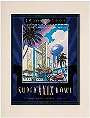 "1995 49ers vs Chargers 10.5"" x 14"" Matted Super Bowl XXIX Program - NF"