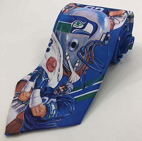 - Seattle Seahawks 1990 NFL Vintage Necktie - Fanimation Collectors Tie