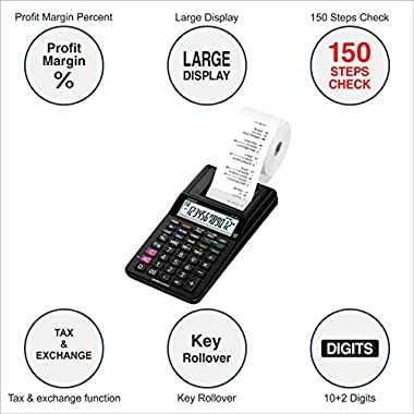 Casio HR-8RC-BK 150 Steps Check & Correct Printing Calculator with Reprint Feature 7
