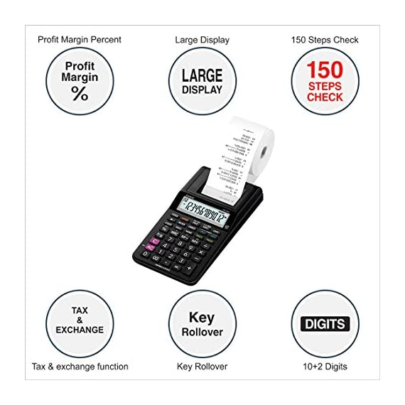 Casio HR-8RC-BK 150 Steps Check & Correct Printing Calculator with Reprint Feature 2
