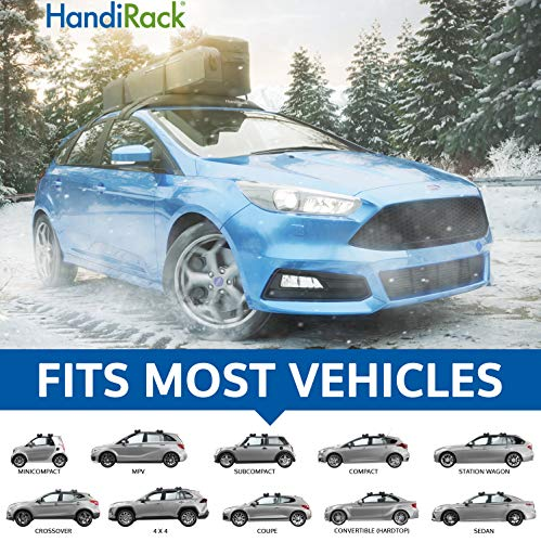 HandiRack - Universal Inflatable roof rack bars (Black) - FREE TIE DOWNS INCLUDED - Fits most cars and SUVS (Textiles Rk)