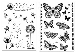 CLOTHOBEAUTY Henna & Lace temporary body tattoos, 10 sheets- Black, 80+ designs