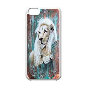 High quality animal Lion-The king of the forest series protective case cover For Iphone 5cH0U94-A4734