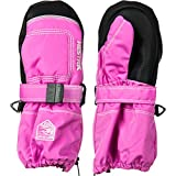 Cheap Hestra Mittens for Baby: Kids Zip Long Mitten with Primaloft Insulation, Cerise, 2