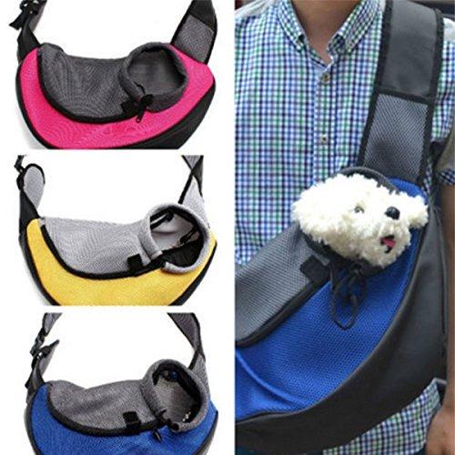 M Pet Dog Cat Carrier Mesh Sling Backpack Travel Tote Shoulder Bag