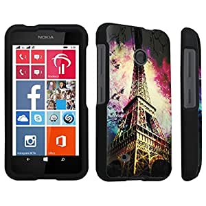 Zheng case Nokia Lumia 530 Hard Case Black - (Eiffel Tower Paris Space)