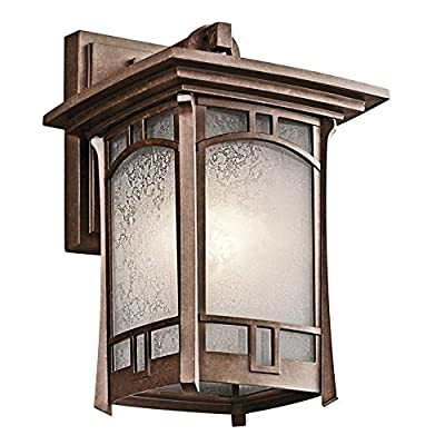Kichler Soria 1 Light Outdoor Wall Sconce - 11.75H in. Aged Bronze