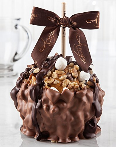 - Rocky Road Turtle Caramel Apple w/ Milk Belgian Chocolate