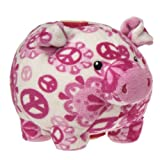 Mary Meyer Print Pizzazz Piggy Bank, 6-Inch, Peaceful Pink