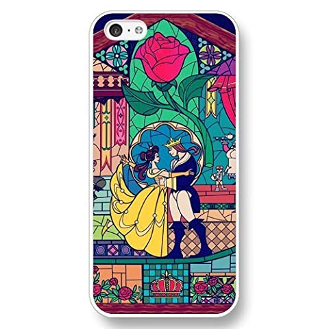 Beauty and The Beast - Disney Princess Belle, Hard Plastic Case for iPhone 5c - White (Disney Cell Phone Cases Iphone 5c)