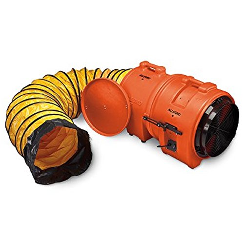 Allegro Industries 9553-25 Plastic Axial Blower with 25' Duct and Canister, AC, (Allegro Duct)
