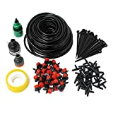 OKSANO 25M Micro Flow Drip Watering Irrigation Kits System Self Plant Garden Hose Watering Kits 30 Dripper Automatic Garden Plant Greenhouse Water System
