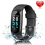 Fitness Tracker, MayuFit IP67 Waterproof Fitness Watch Color Screen Heart Rate Monitor Activity Tracker with Sleep Monitor Pedometer Step Counter Smart Watch for iPhone Samsung, Android and iOS Smart Phones
