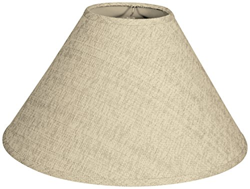 French Linen Design (Royal Designs Coolie Empire Hardback Lamp Shade, Linen French, 5 x 14 x 9.5)