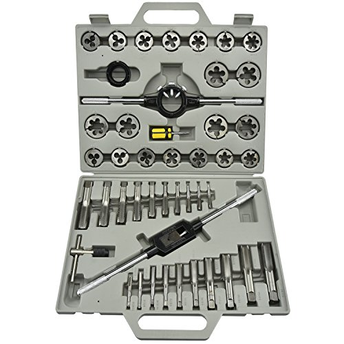 Neiko 00906 Tap & Die Threading Kit, Forged Alloy Steel | 45 Piece (45 Piece Stubby Tool)